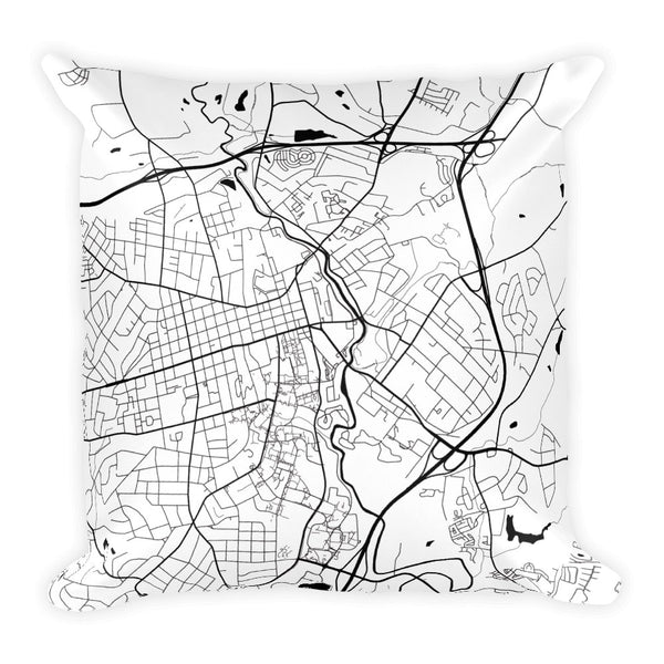 Athens (OH) Map Pillow – Modern Map Art