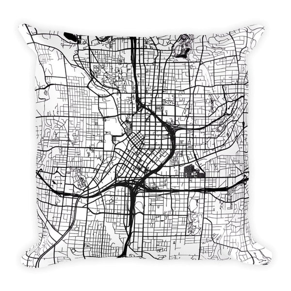 Atlanta Map Pillow – Modern Map Art
