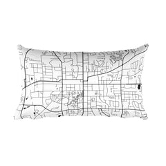 Auburn Map Pillow – Modern Map Art