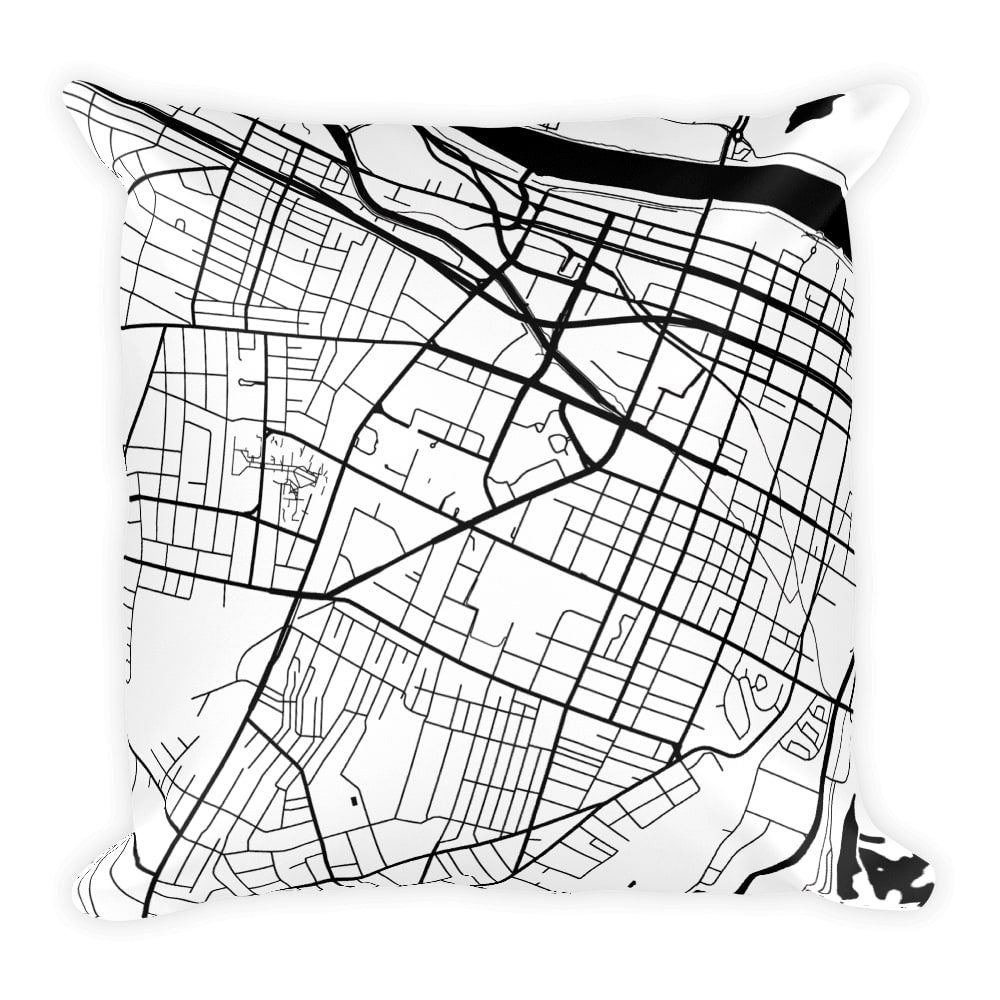 Augusta Map Pillow – Modern Map Art
