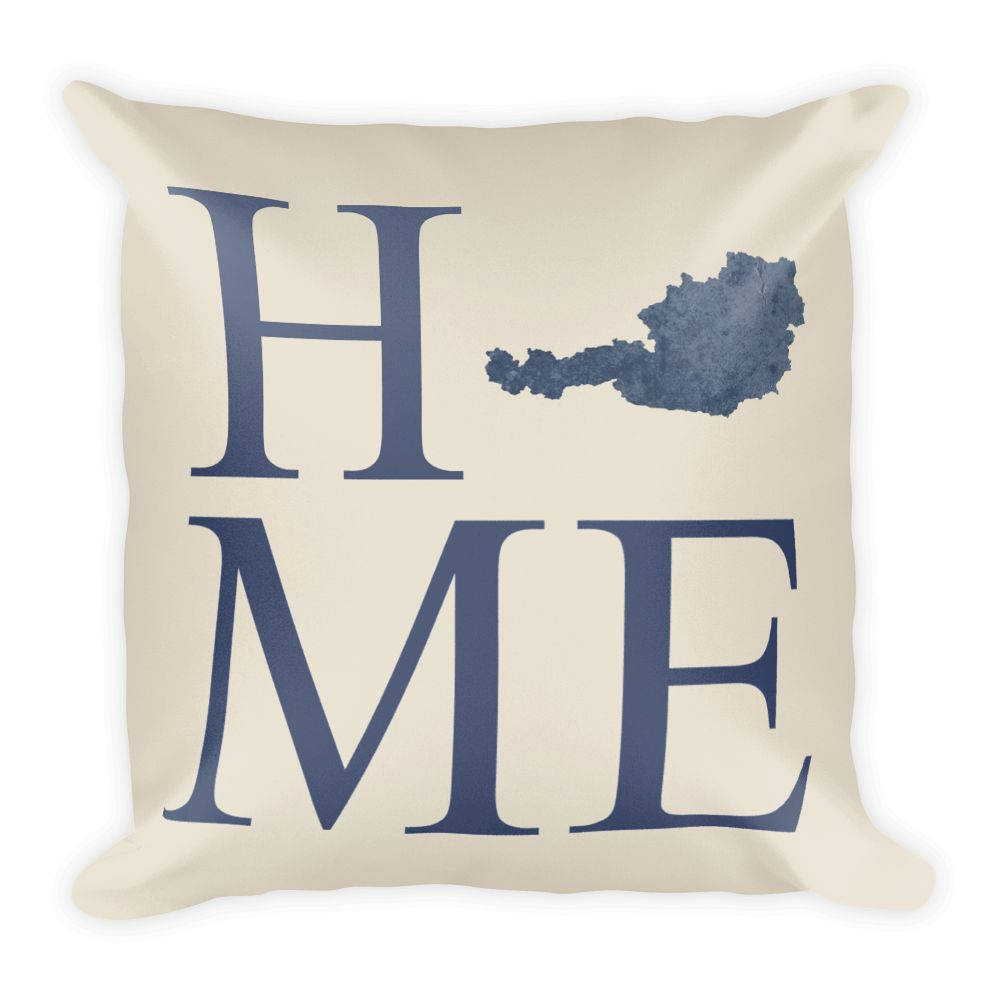 Austria Map Pillow – Modern Map Art