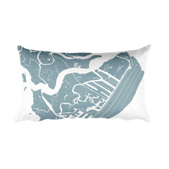 Avalon Map Pillow – Modern Map Art
