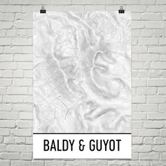Baldy and Guyot Topographic Map Art