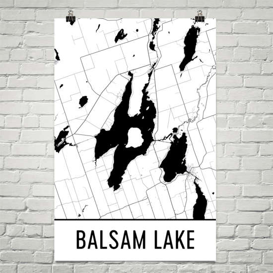 Balsam Lake ON Art and Maps