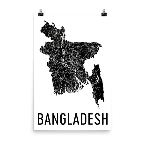 Bangladesh Wall Map Print - Modern Map Art