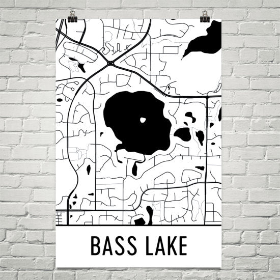 Bass Lake MN Art and Maps