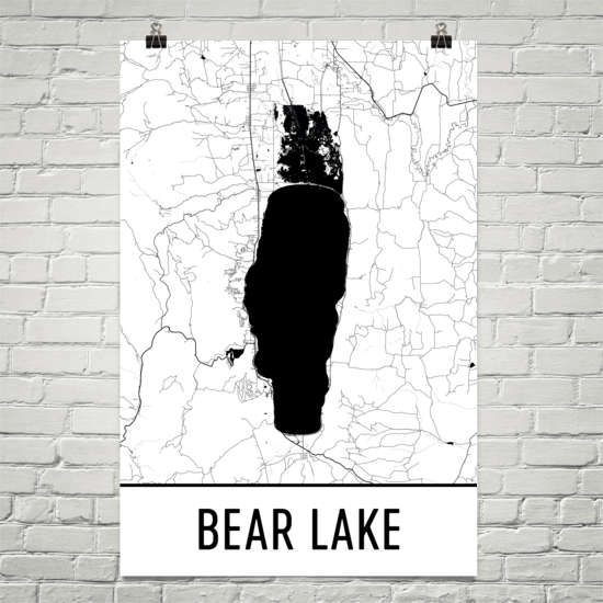 Bear Lake ID Art and Maps