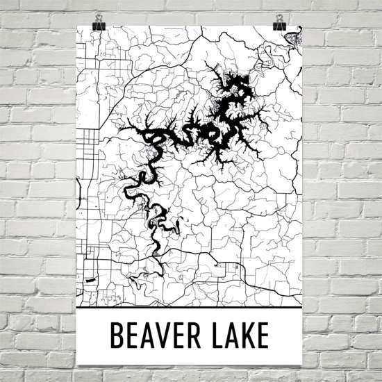 Beaver Lake AR Art and Maps