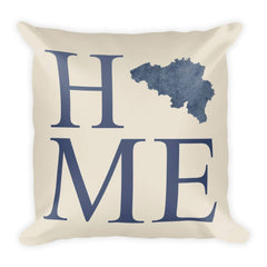 Belgium Map Pillow – Modern Map Art