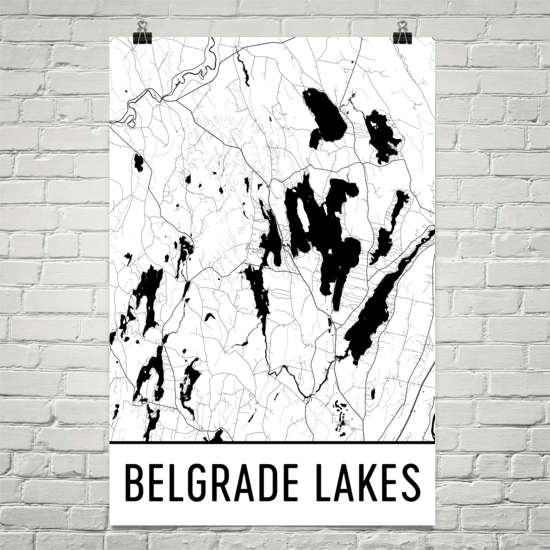 Belgrade Lakes ME Art and Maps