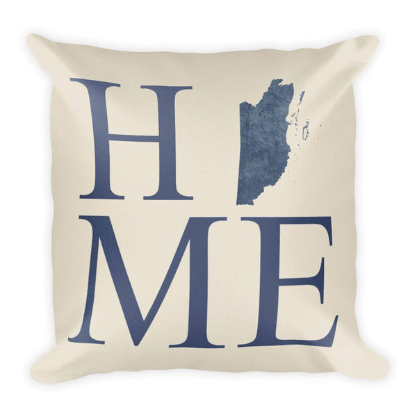 Belize Map Pillow – Modern Map Art