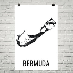 Bermuda Wall Map Print - Modern Map Art