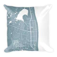 Bethany Beach Map Pillow – Modern Map Art
