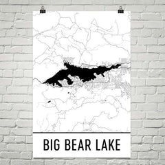Big Bear Lake CA Art and Maps