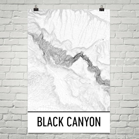 Black Canyon Topographic Map Art