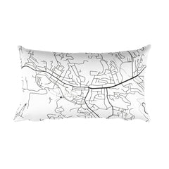 Boone Map Pillow – Modern Map Art