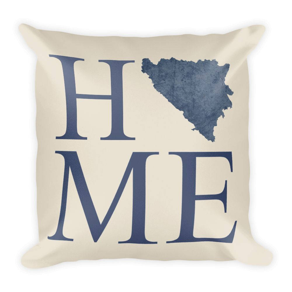 Bosnia and Herzegovina Map Pillow – Modern Map Art