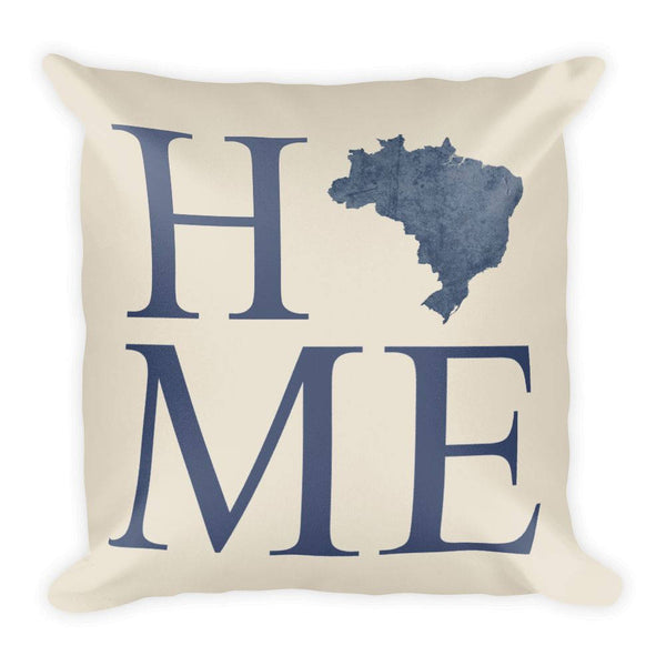 Brazil Map Pillow – Modern Map Art