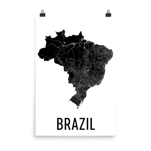 Brazil Wall Map Print - Modern Map Art