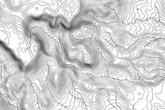 Bryce Canyon National Park Topographic Map Art