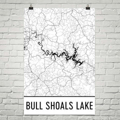 Bull Shoals Lake MO Art and Maps