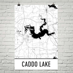Caddo Lake TX Art and Maps