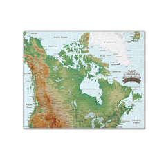 Canada Push Pin Map - Topographic - With 1,000 Pins!