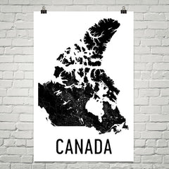 Canada Wall Map Print - Modern Map Art