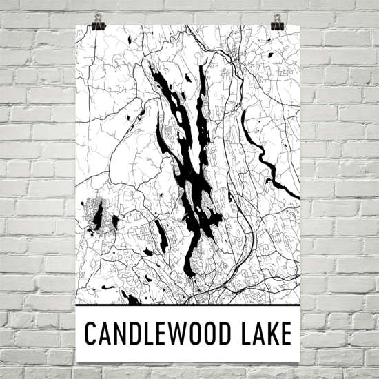 Candlewood Lake CT Art and Maps