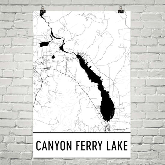 Canyon Ferry Lake MT Art and Maps
