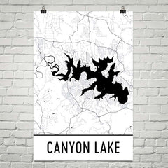 Canyon Lake TX Art and Maps