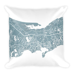 Cape Cod Map Pillow – Modern Map Art