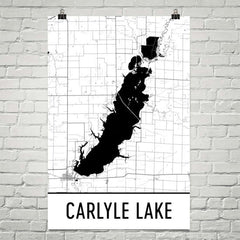 Carlyle Lake IL Art and Maps