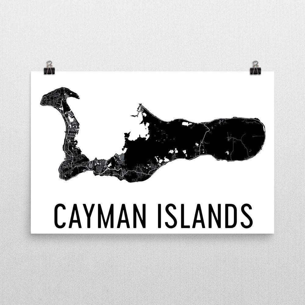 photo about Printable Map of Grand Cayman identified as Cayman Wall Map Print - Revolutionary Map Artwork