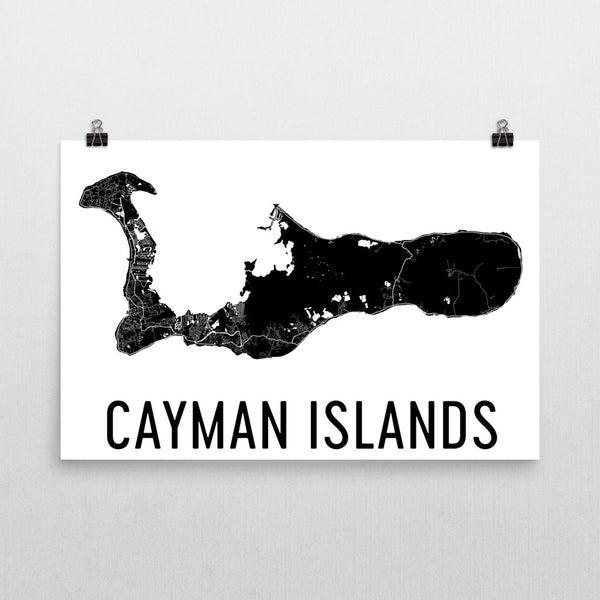 Cayman Wall Map Print - Modern Map Art