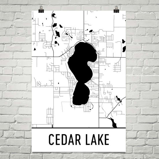 Cedar Lake IN Art and Maps
