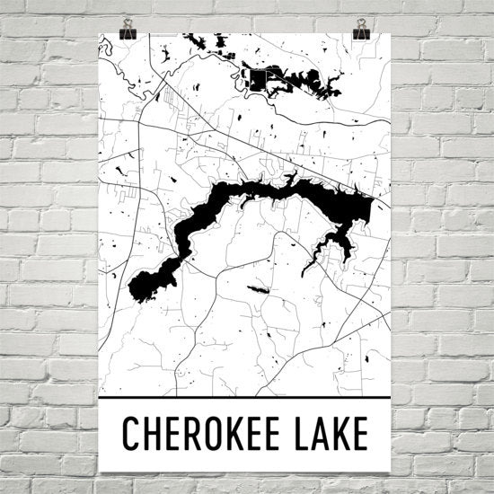 Cherokee Lake TN Art and Maps