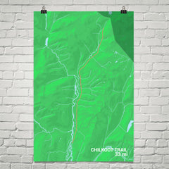 Chilkoot Trail Map Art Prints