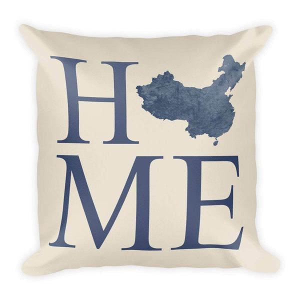 China Map Pillow – Modern Map Art