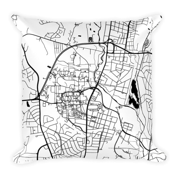 College Park Map Pillow – Modern Map Art