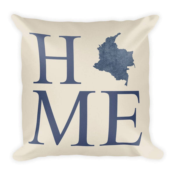 Colombia Map Pillow – Modern Map Art