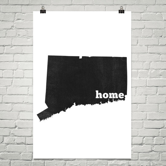 Connecticut Home State Map Art