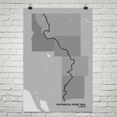 Continental Divide Trail Map Art Prints