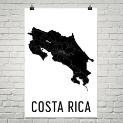 Costa Rica Wall Map Print - Modern Map Art