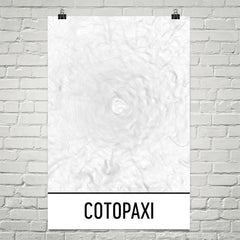 Cotopaxi Topographic Map Art