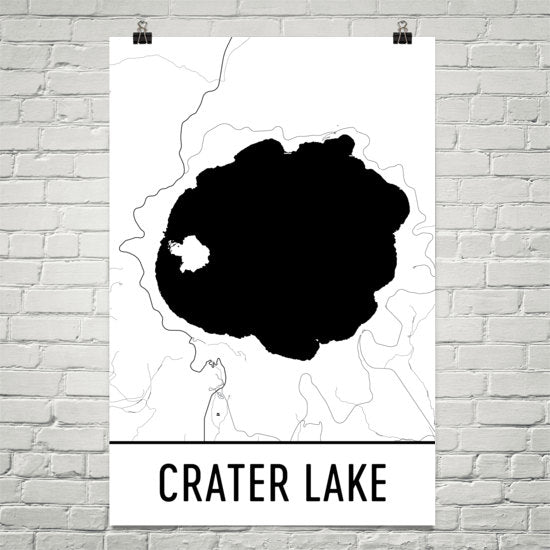 Crater Lake OR Art and Maps