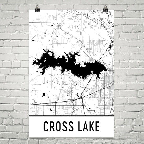 Cross Lake LA Art and Maps