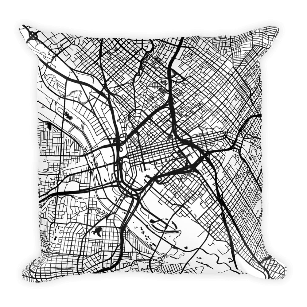 Dallas Map Pillow – Modern Map Art