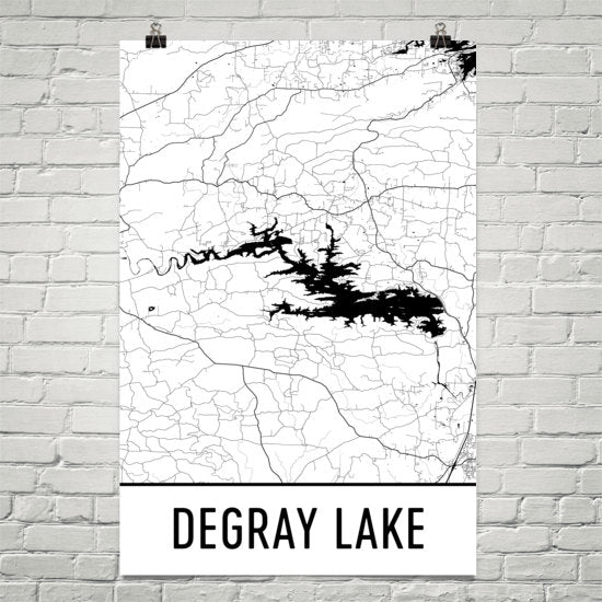DeGray Lake AR Art and Maps
