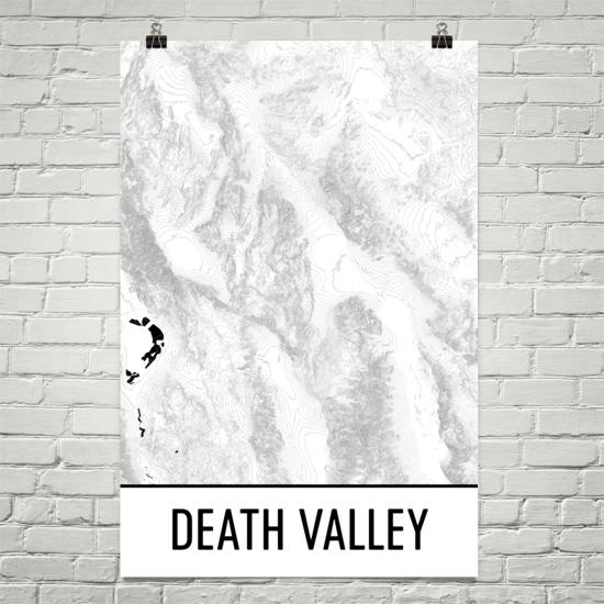 Death Valley National Park Topographic Map Art